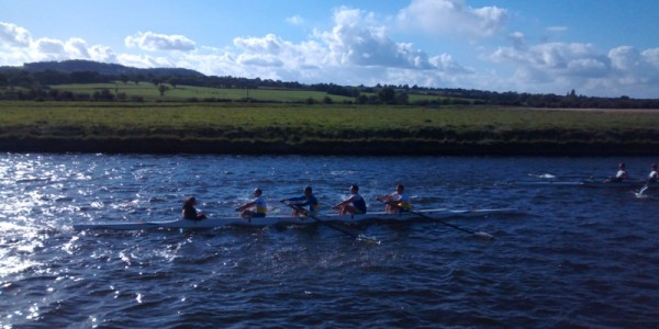 Masters coxed four, Runcorn Rowing Club、Cheshire, Autumn Head 2015